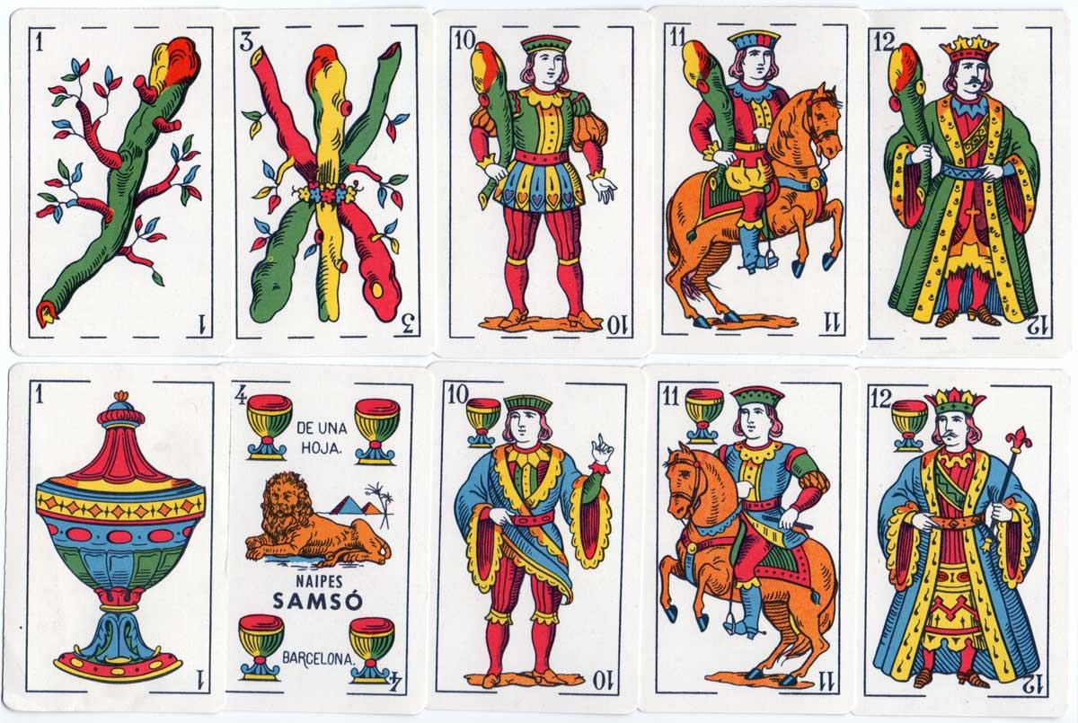 Naipes Samsó published by N.E.G.S.A. (Barcelona) c.1965