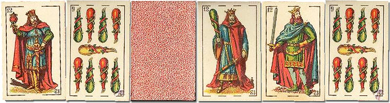 Standard 'El Cid' playing cards manufactured by Simeon Durá, Valencia, Spain, c.1900