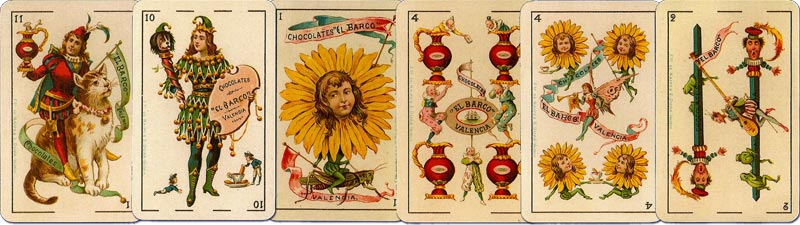 Advertising playing Cards for Chocolates El Barco manufactured by Simeon Durá, Valencia, Spain, c.1895