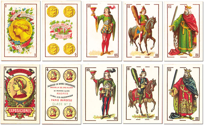 original designs for Fournier's Castilian pattern