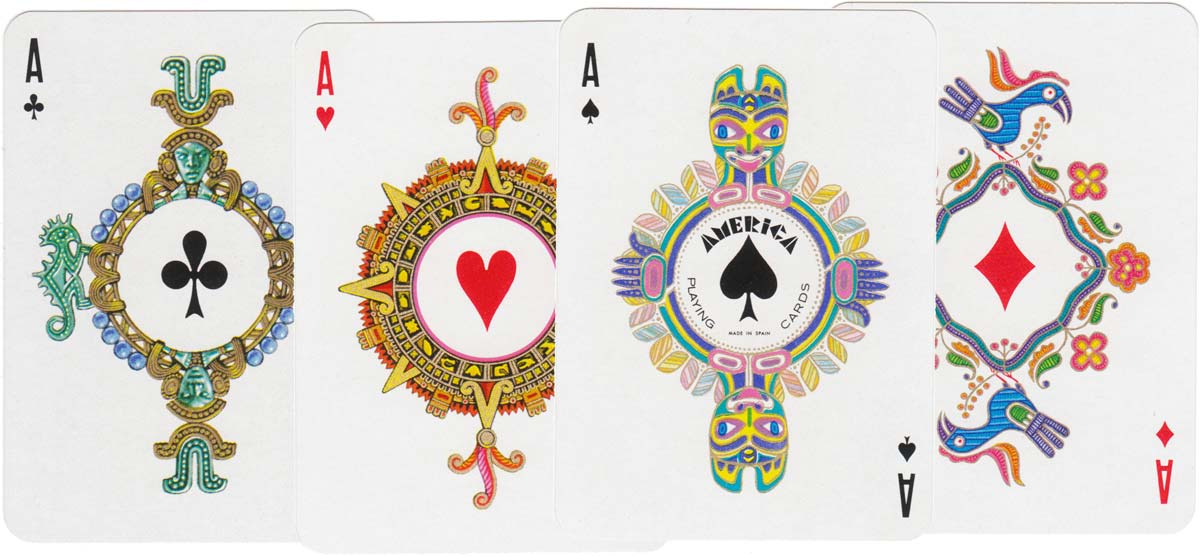 """America"" playing cards designed by Teodoro N Miciano, 1960"