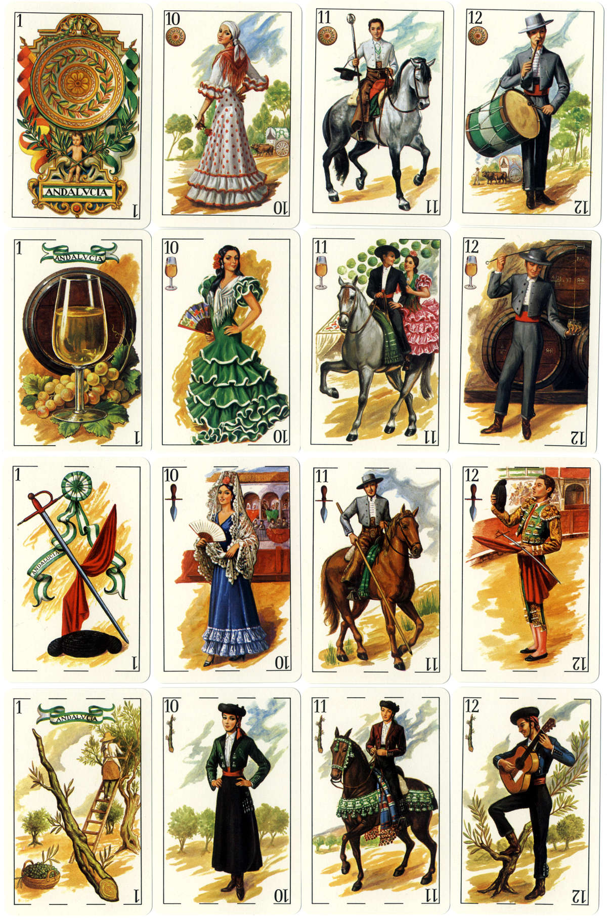 'Andalucia' non-standard Spanish-suited playing cards created by Rafael Rodriguez Hernandez and published by 