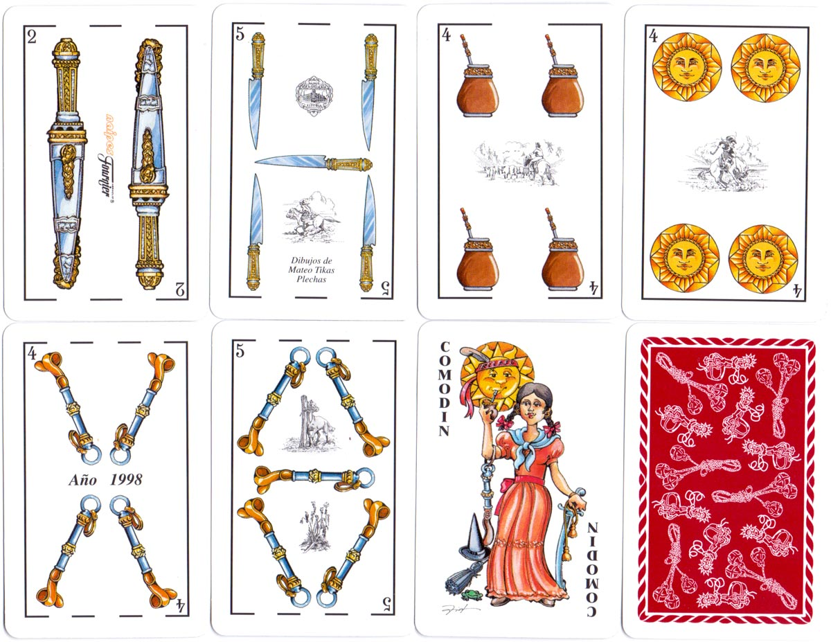 Baraja Gaucha fantasy deck designed by Mateo Tikas Plechas for Argentina, 1998
