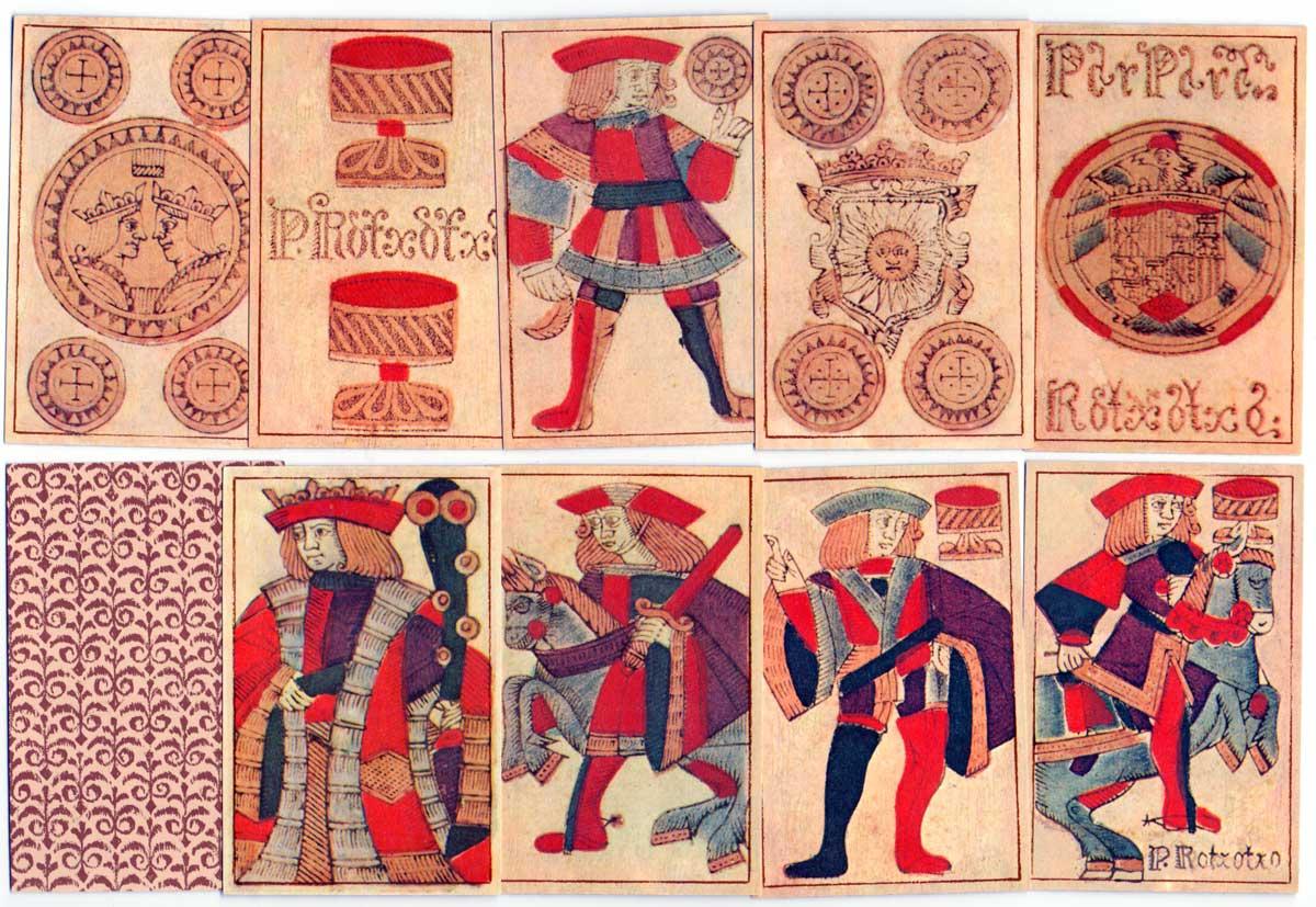 Baraja Española Gótica siglo XVII facsimile