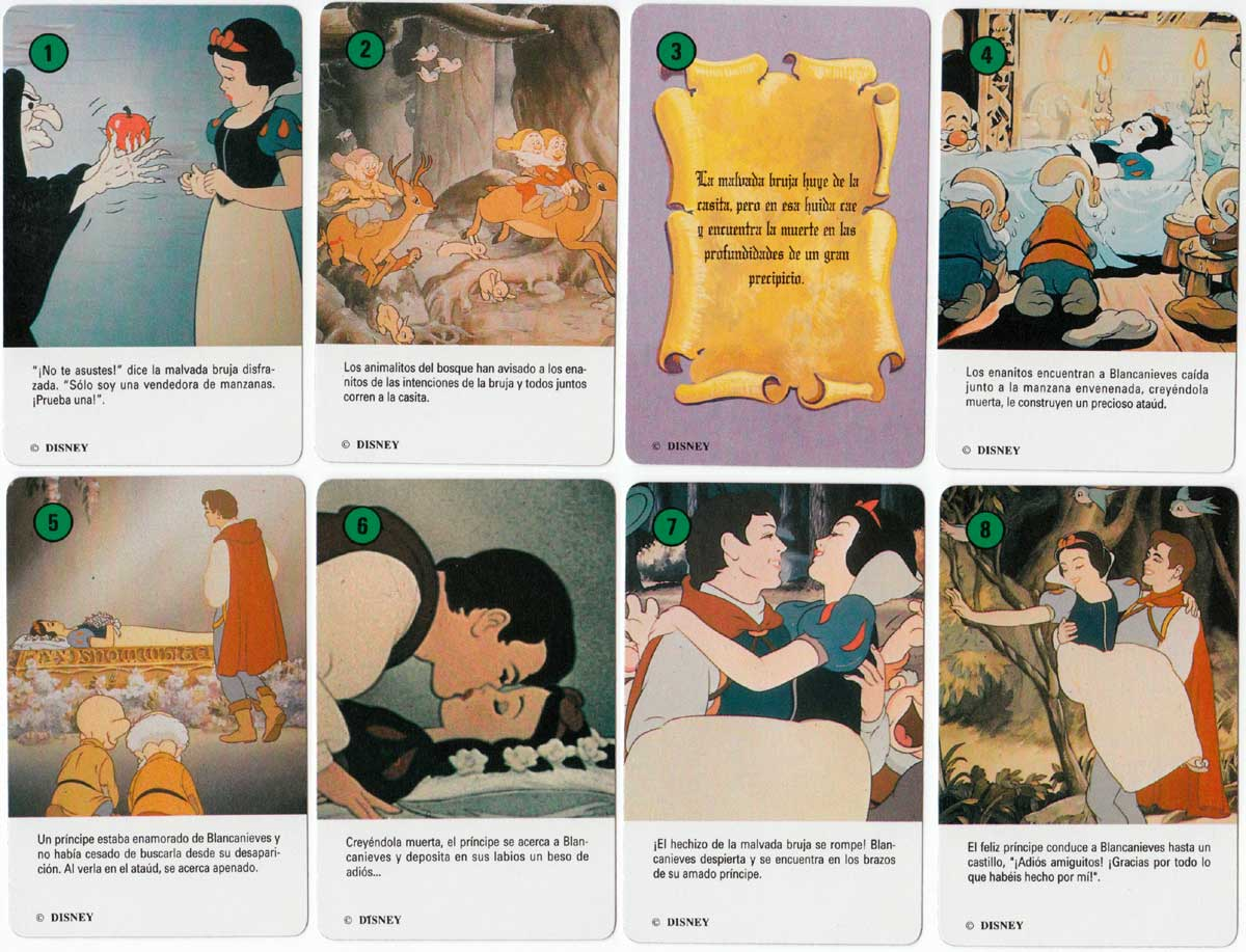 Blancanieves (Snow White) card game published by Heracliio Fournier, 1992