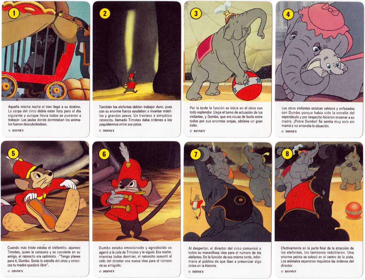Dumbo card game published by Heraclio Fournier, 1992