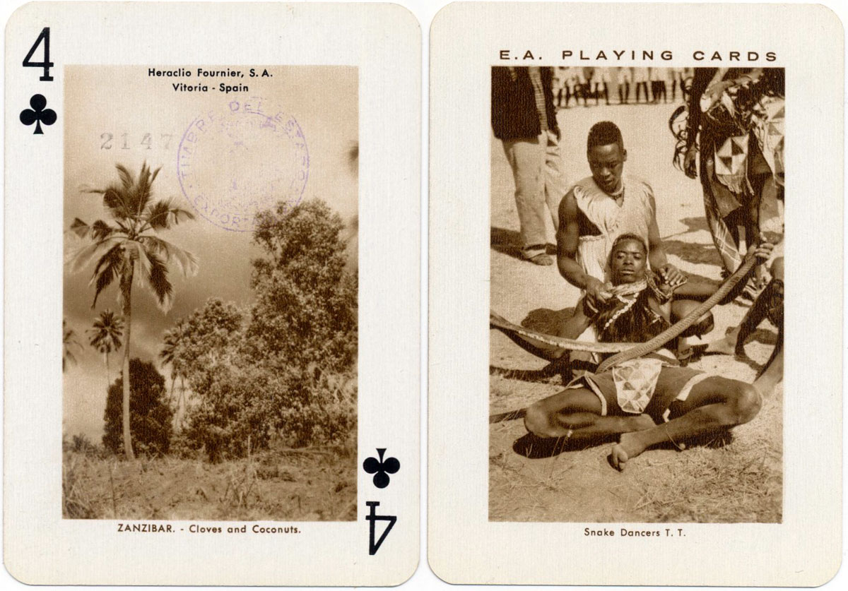 East African Playing Cards by Heraclio Fournier S.A., 1957