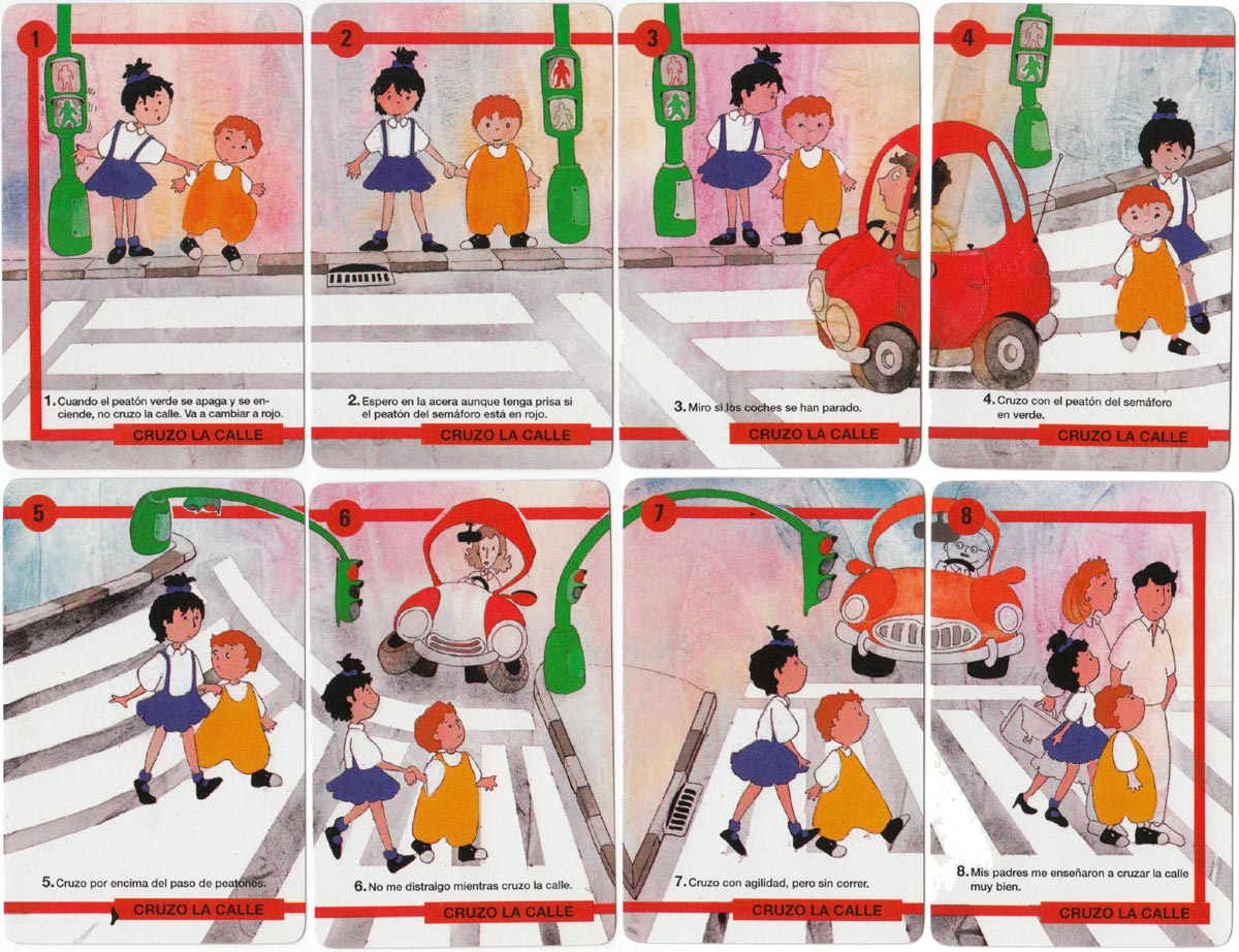 Educación Vial (Road Awareness) card game published by H. Fournier, 1995