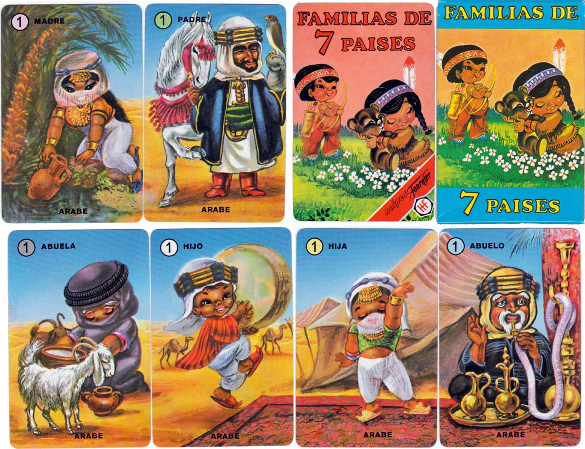 Familias de 7 Paises by Naipes H. Fournier, 1979