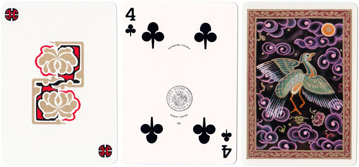 Far East playing cards with designs by Isabel Ibáñez de Sendadiano, c.1980