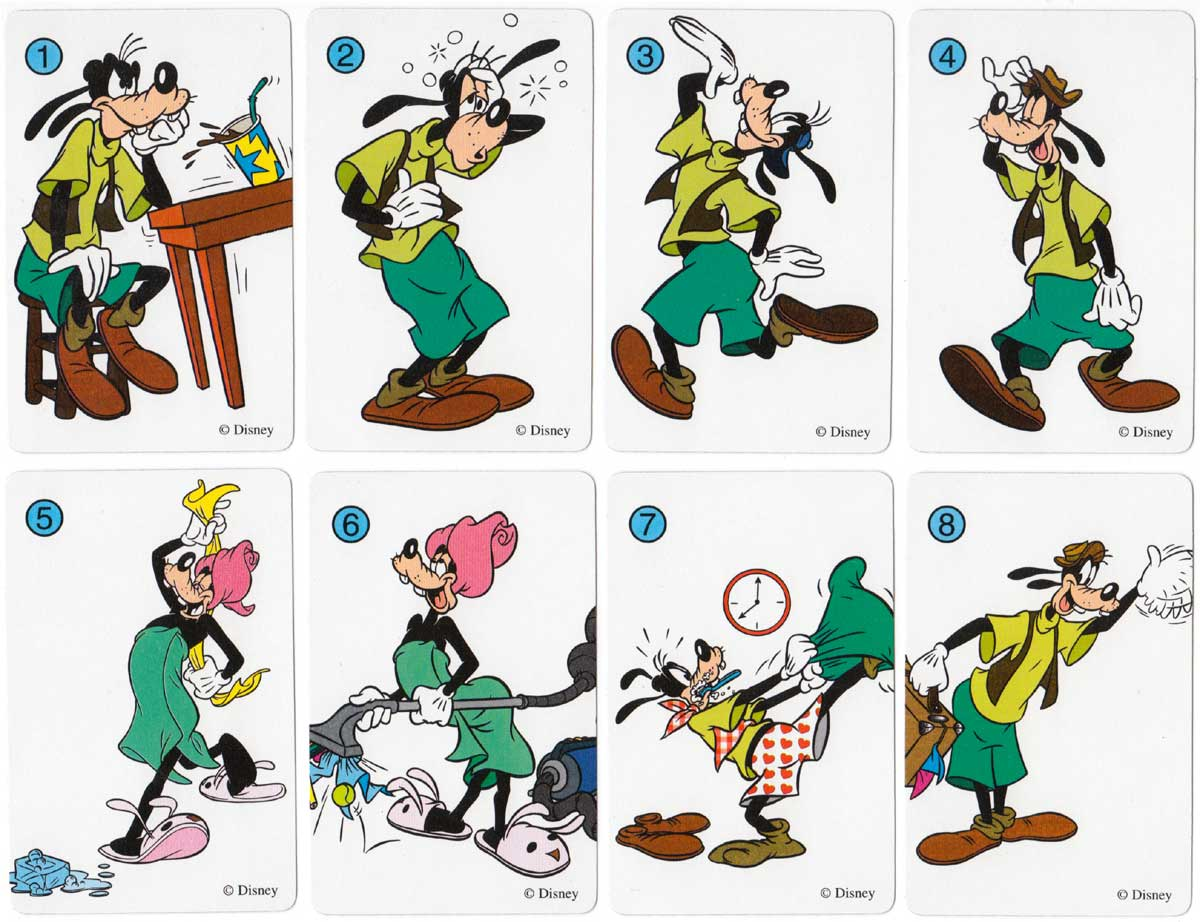 A Goofy Movie card game published by Heraclio Fournier, 1996