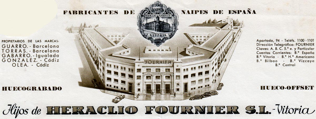 Hijos de Heraclio Fournier letterhead