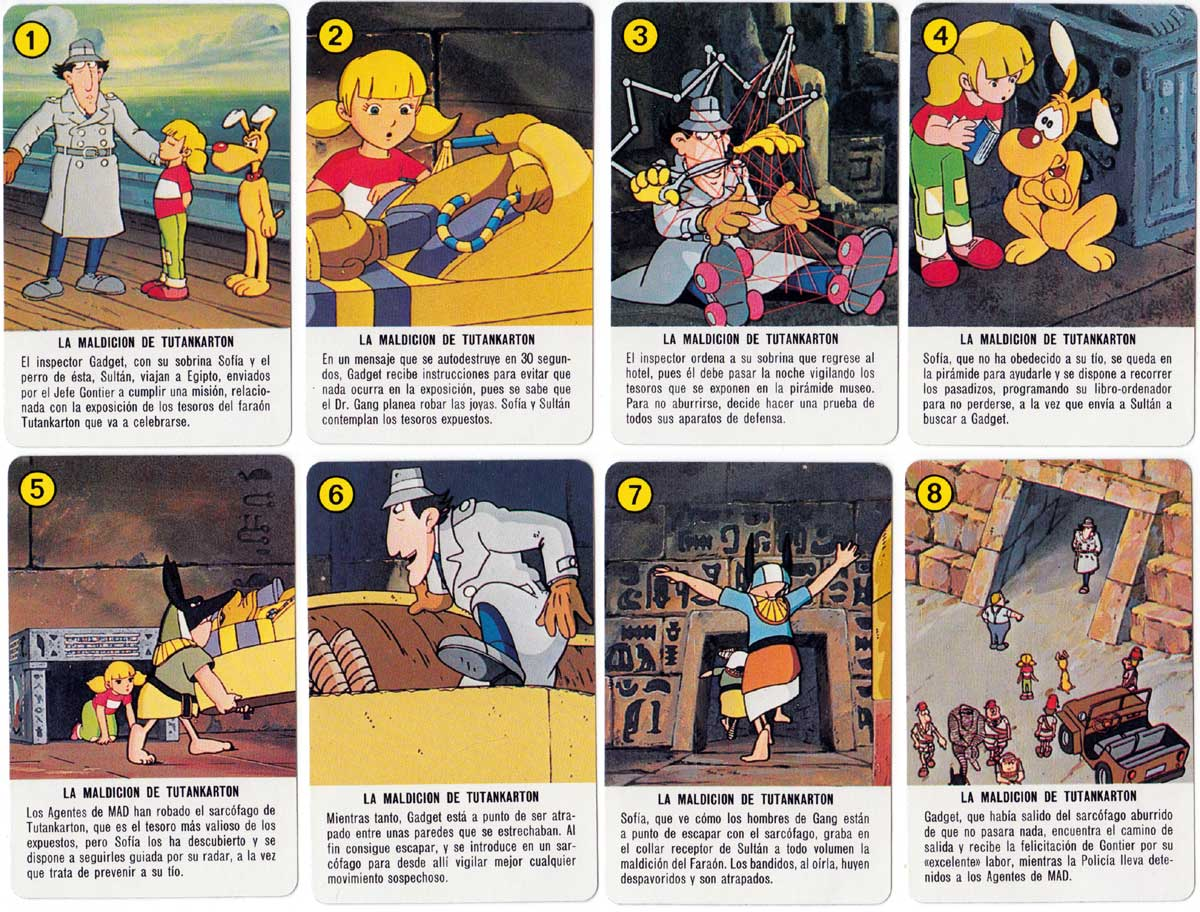 The Adventures of Inspector Gadget quartet game published by Fournier in 1983