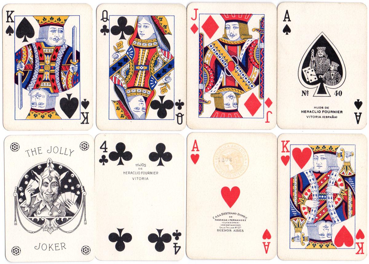 """Hijos de Heraclio Fournier's """"Poker N°40"""" c.1940"""