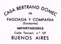 Fournier Poker Nº505 details of importing agent Casa Bertrand Domec, Buenos Aires