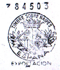 Fournier Poker Nº505 exportation tax stamp