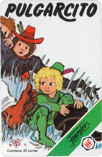 Pulgarcito (Tom Thumb) card game published by H Fournier, 1981