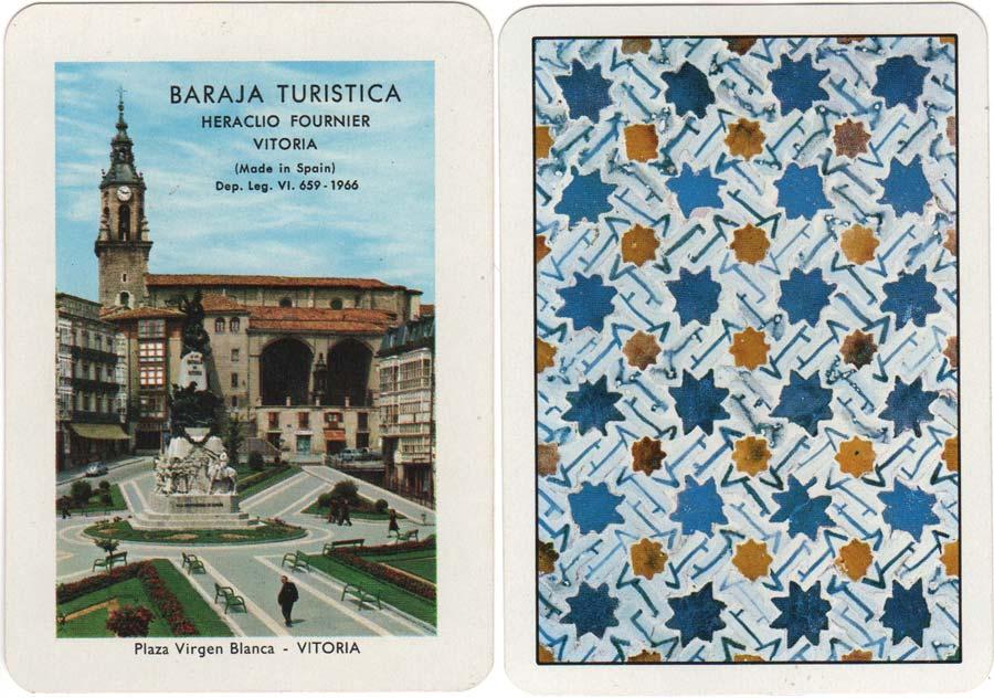 Baraja Turística de España published by Heraclio Fournier, 1966