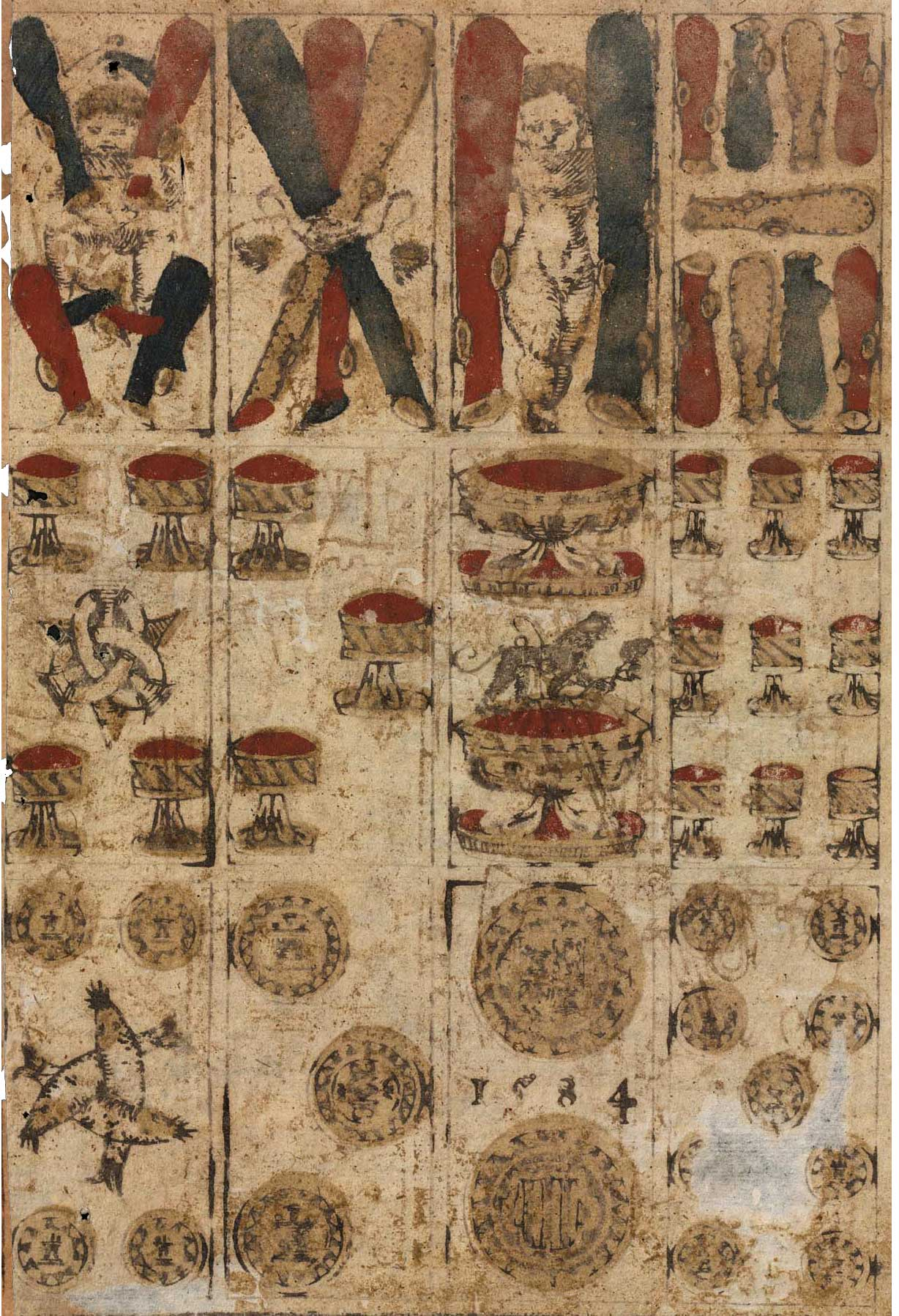 Spanish-suited deck made in Toledo in 1584