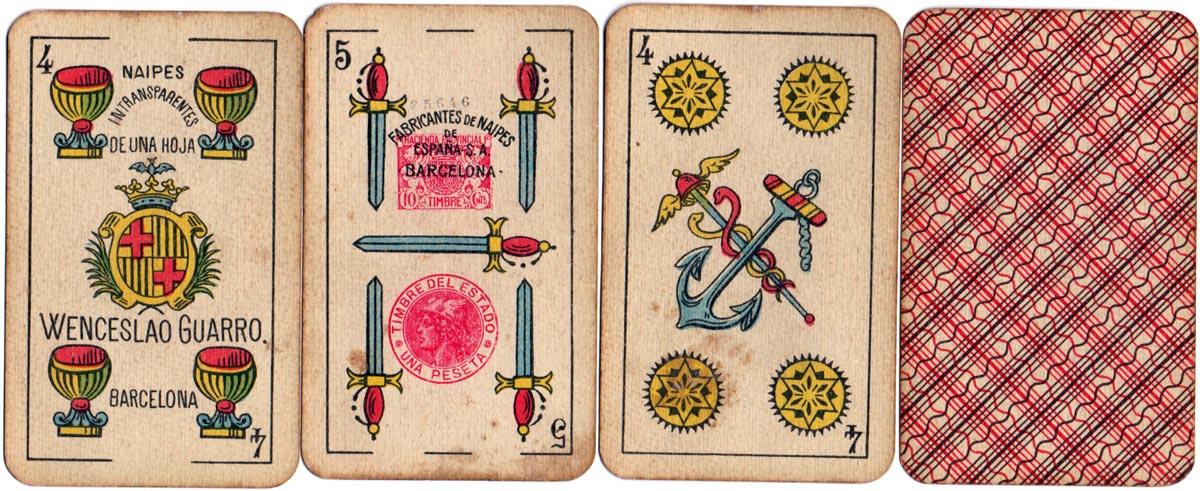 Wenceslao Guarro Catalan Pattern by Fabricantes de Naipes de España, c.1925