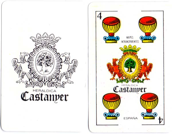 Spanish Catalan pattern playing cards made by Heráldica Castanyer, 1981