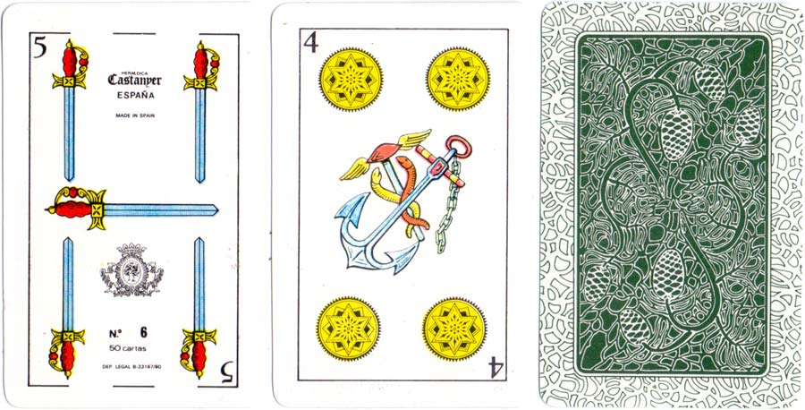 Spanish Catalan pattern playing cards made by Heráldica Castanyer, c.1980