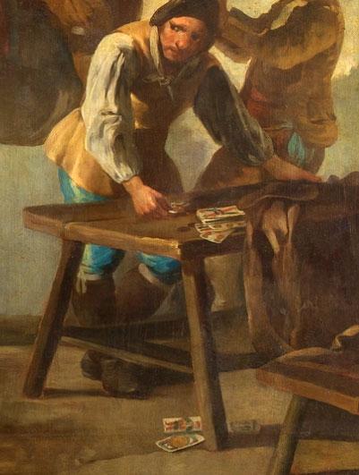 detail from La riña en la Venta Nueva, 1777