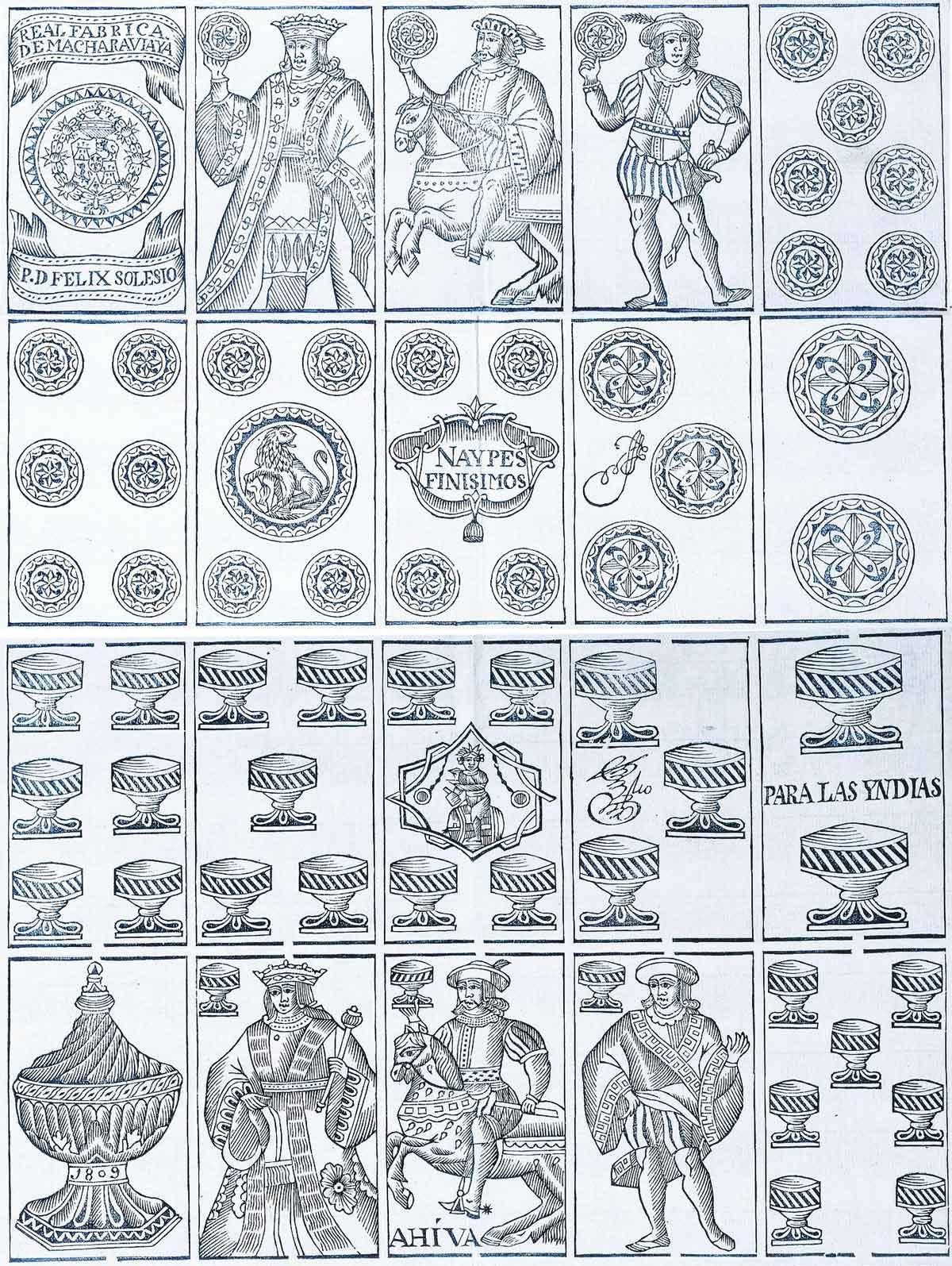 Spanish National pattern, Real Fábrica de Macharaviaya, 1809