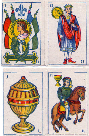 Miniature playing cards, 1964