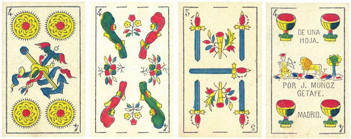 Catalan pattern by J. Muñoz, Getafe (Madrid) c.1870s