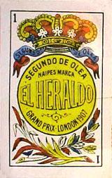 Naipes El Heraldo, Segundo de Olea, Cádiz