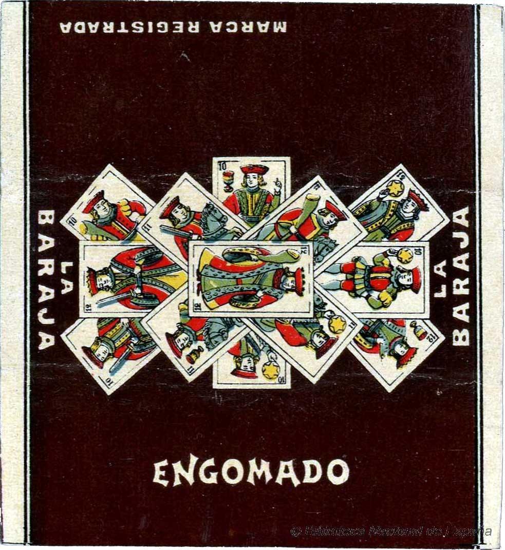 cigarette paper packet from the Biblioteca Nacional de España