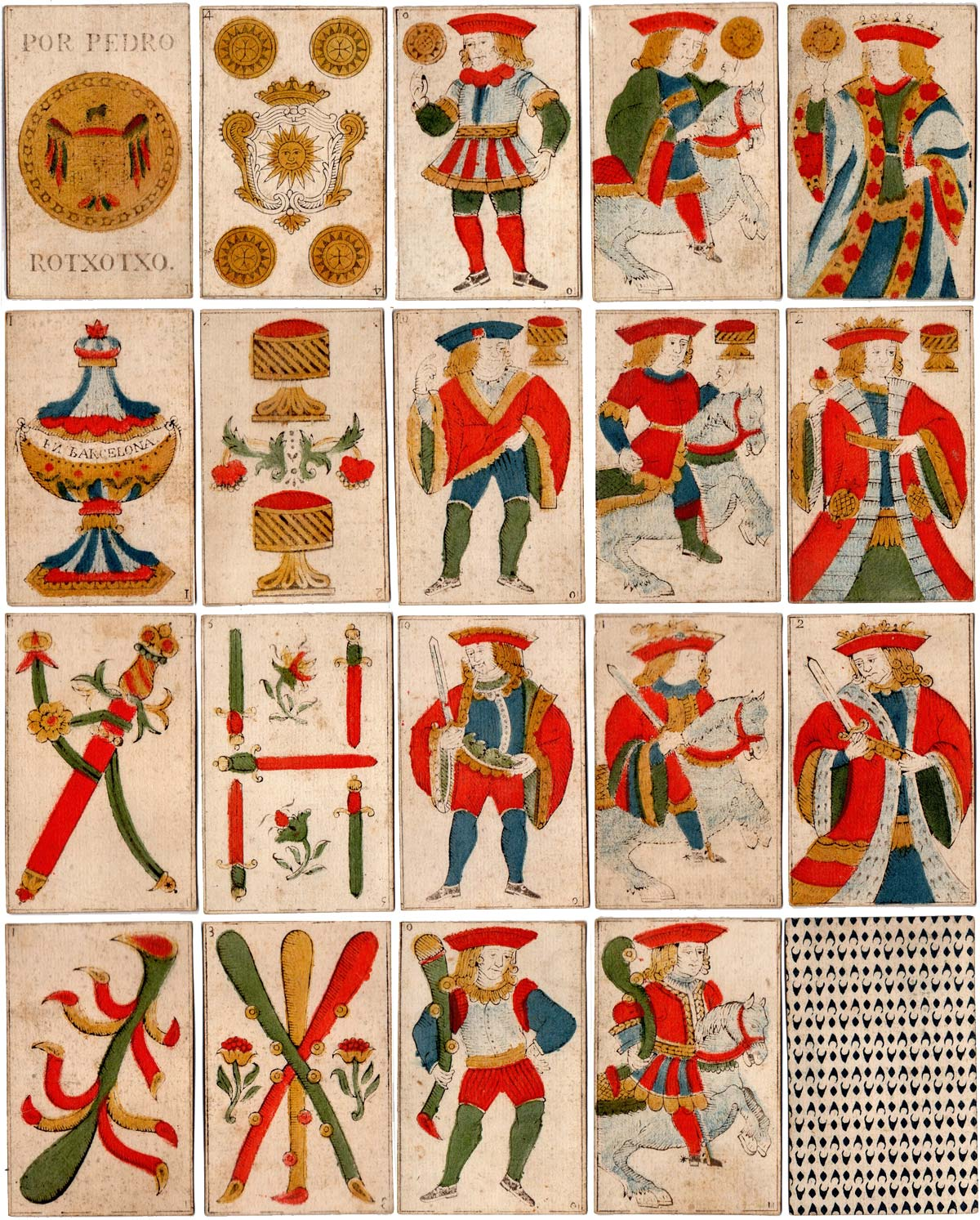 standard Spanish National pattern by Pedro Rotxotxo, Barcelona c.1800