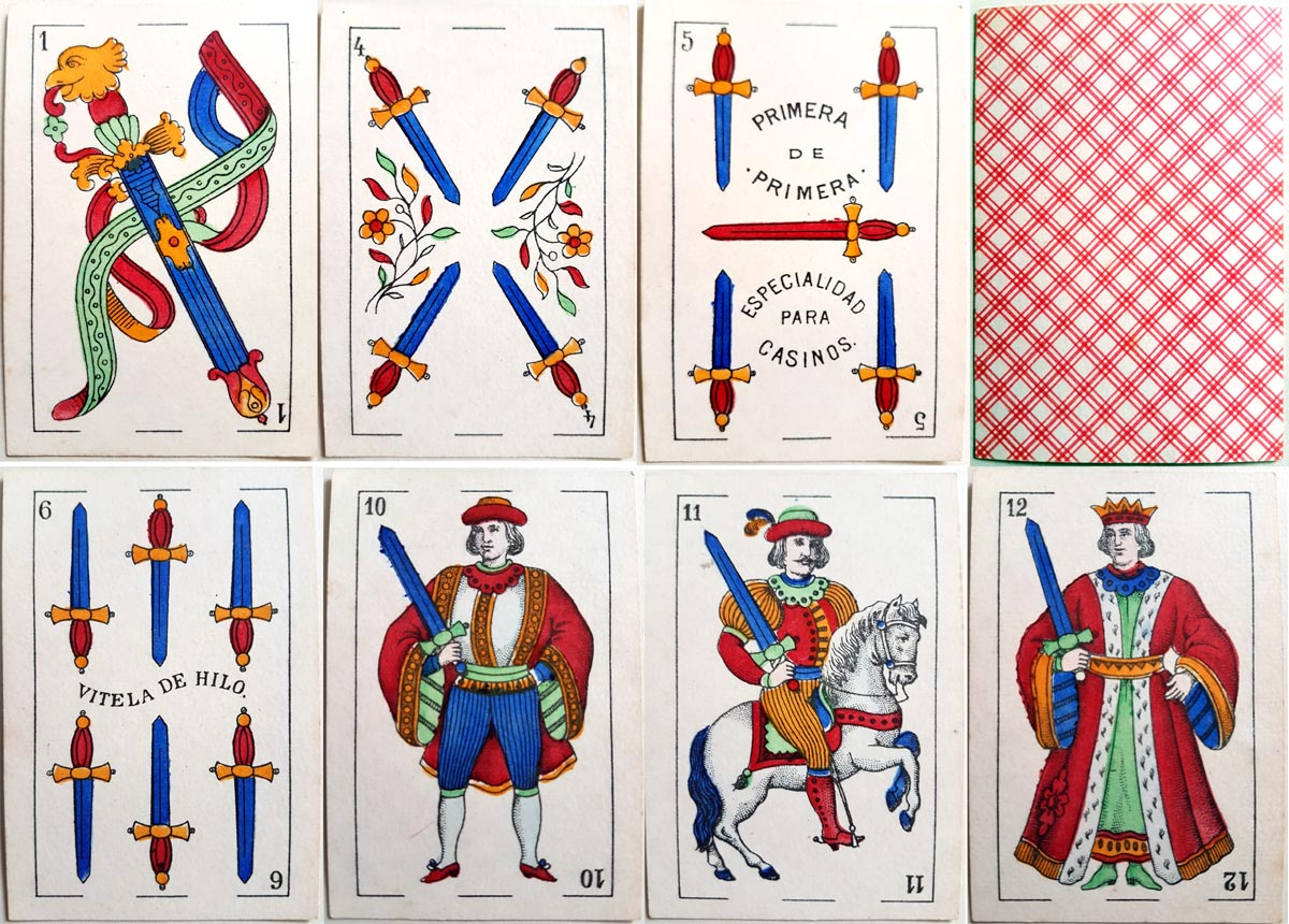 """El Elefante"" deck by Rodolfo de Olea Viaña, Cadiz, dated 1899"