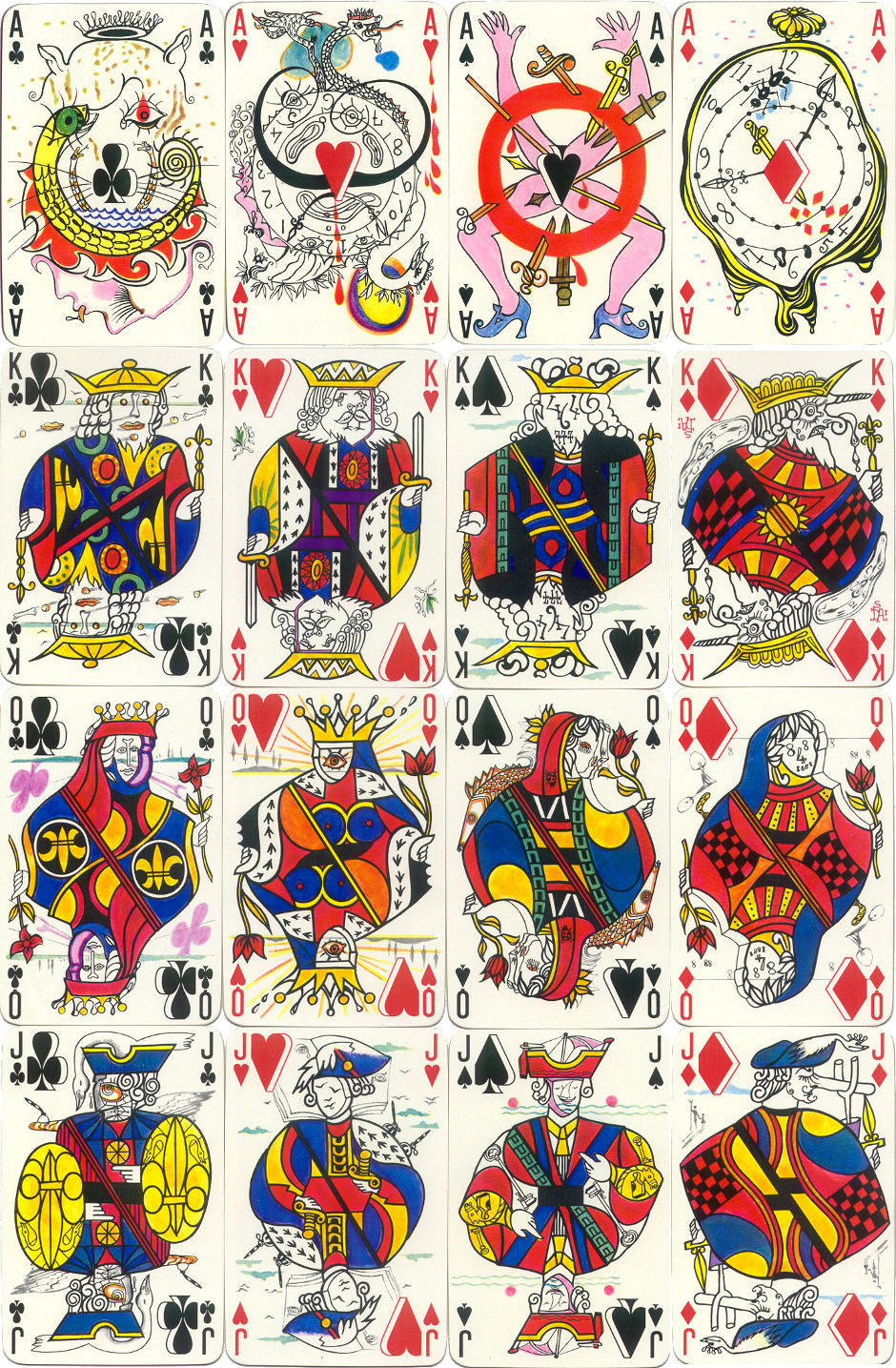 Playing cards designed by Salvador Dalí, 1967