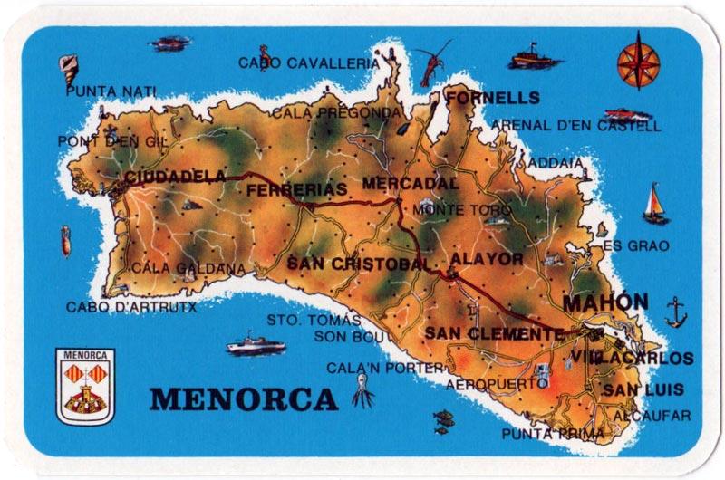 Menorca Souvenir by Savir S.A., Barcelona, c.1980