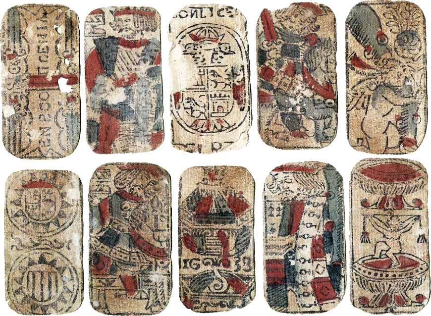 Spanish playing cards, Seville, 1638