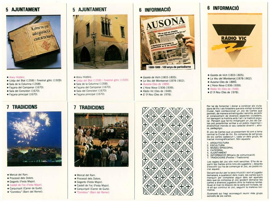 Vic Joc de Cartes, c.1990, a Souvenir Quartet game from North Spain