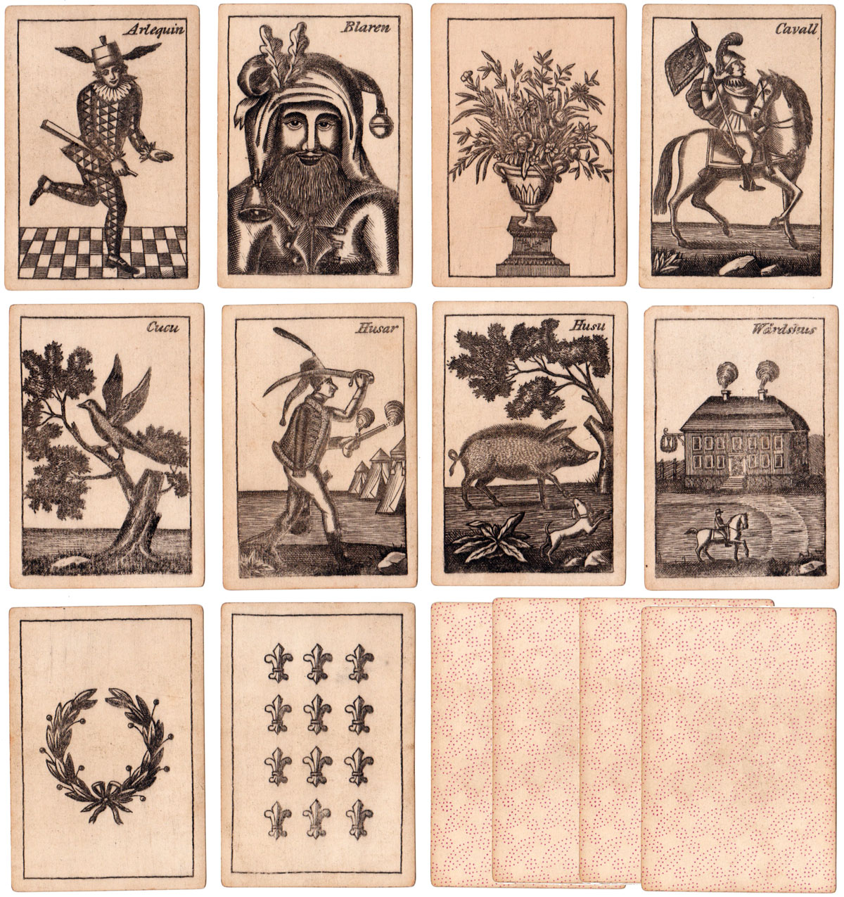 'Kille' cards by an unidentified maker from the late 18th century