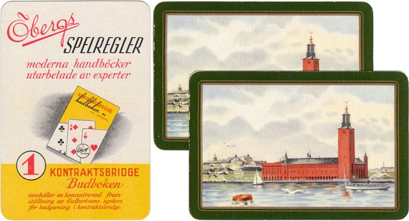 Standard Swedish playing cards manufactured by J.O. Öberg & Son, Eskilstuna, 1943