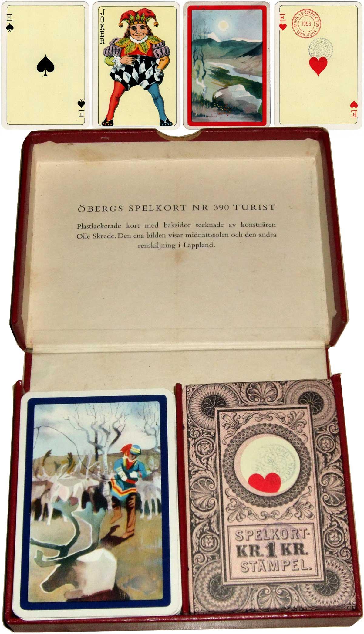 Öbergs Spelkort Nr 390 Turist, 1956