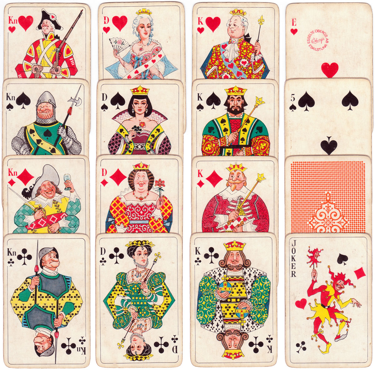 """Four Centuries"" (4 Sekel) playing cards by Esselte Öbergs A.B."
