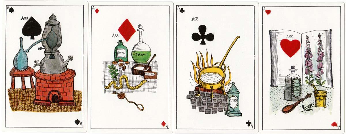 Alchimistenspiel - Jeu des Alchimistes designed by Elfriede Weidenhaus, 1967