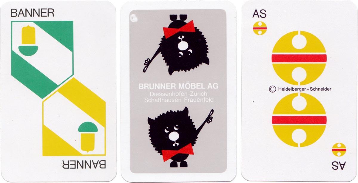 Publicity pack for Brunner Möbel designed by André Stehle, 1966