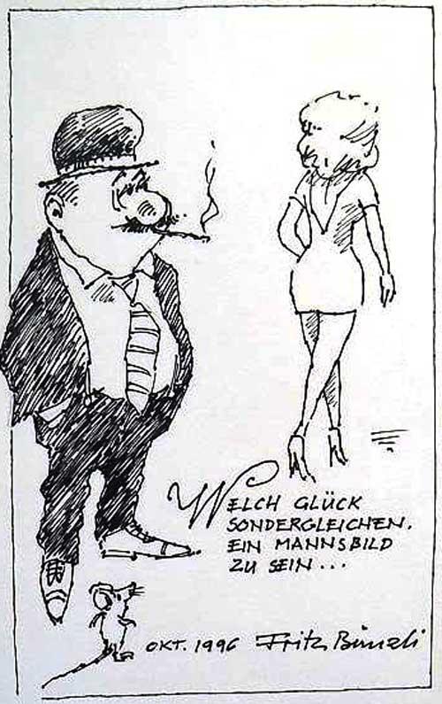 Fritz Bünzli cartoon, 1996