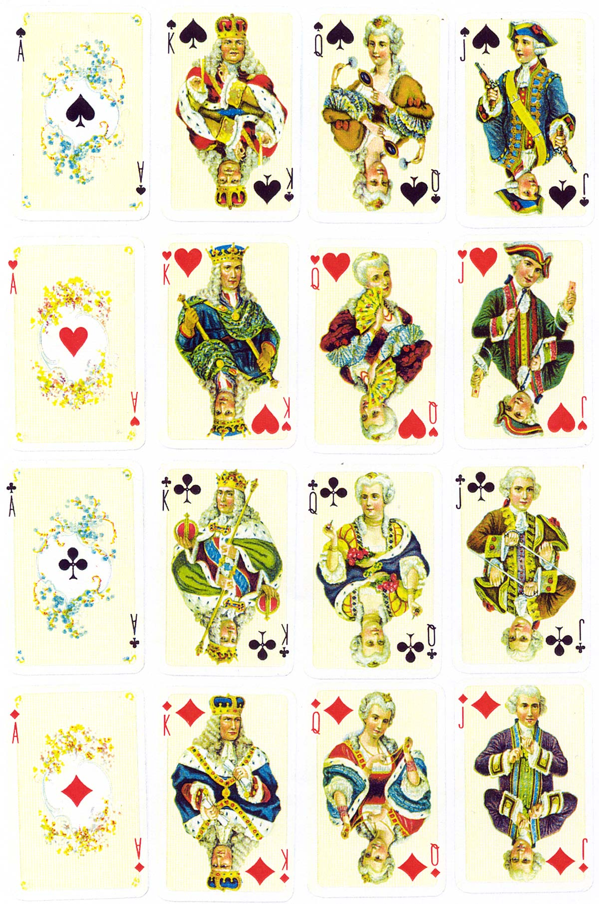 'Rococco' playing cards designed by Melchior Annen, printed by Müller & Cie, c.1920