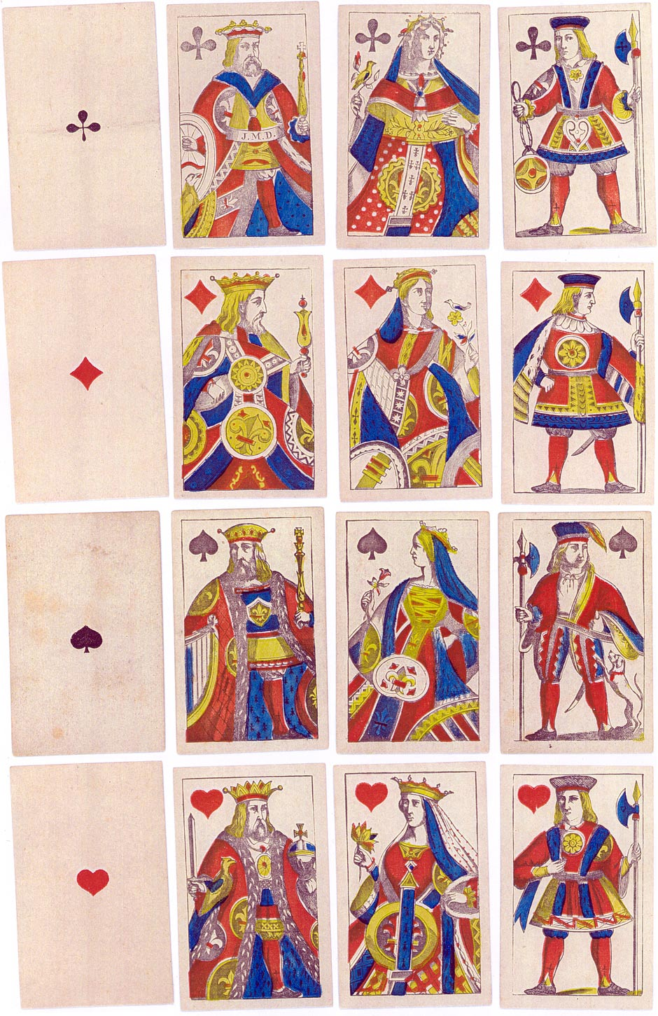Piquet playing-cards made by J. Müller, Diessenhofen, c.1850-60