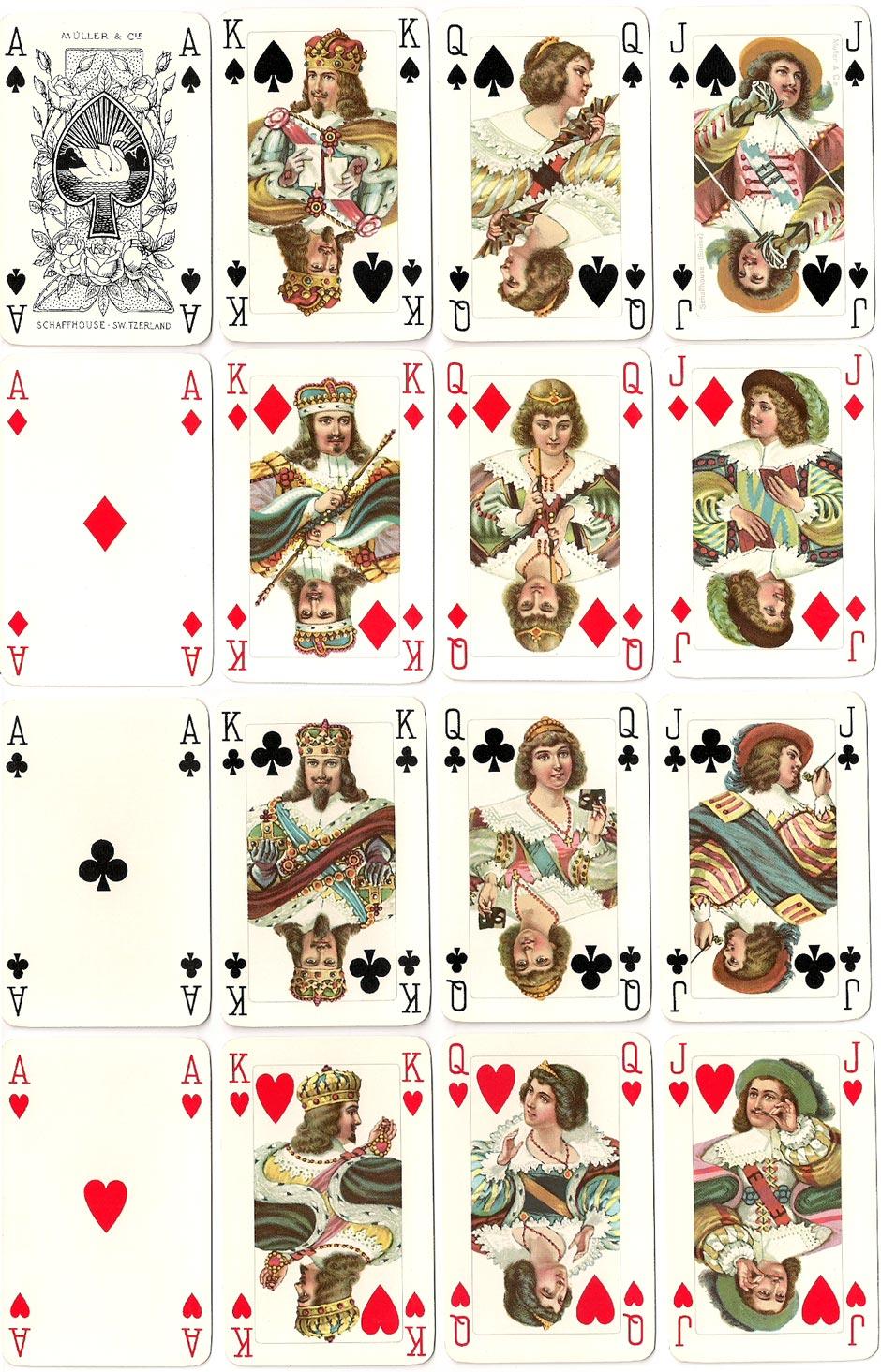 'RICHELIEU' playing cards by A.G. Müller, Schaffhausen, Switzerland, 1935