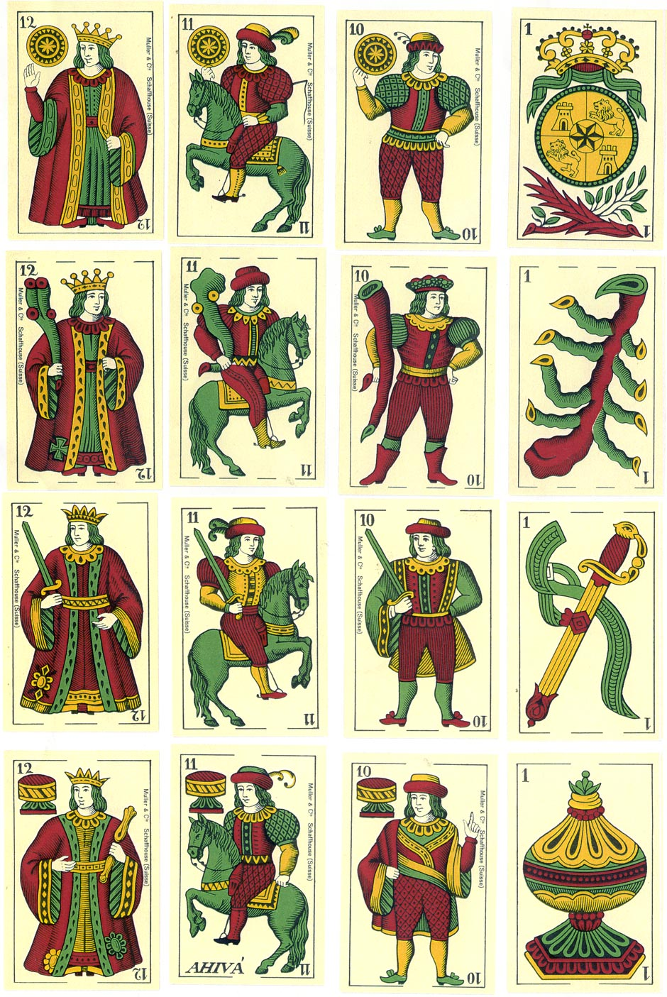 Spanish Cádiz-style pack by Müller & Cie, Schaffhausen,, c.1952