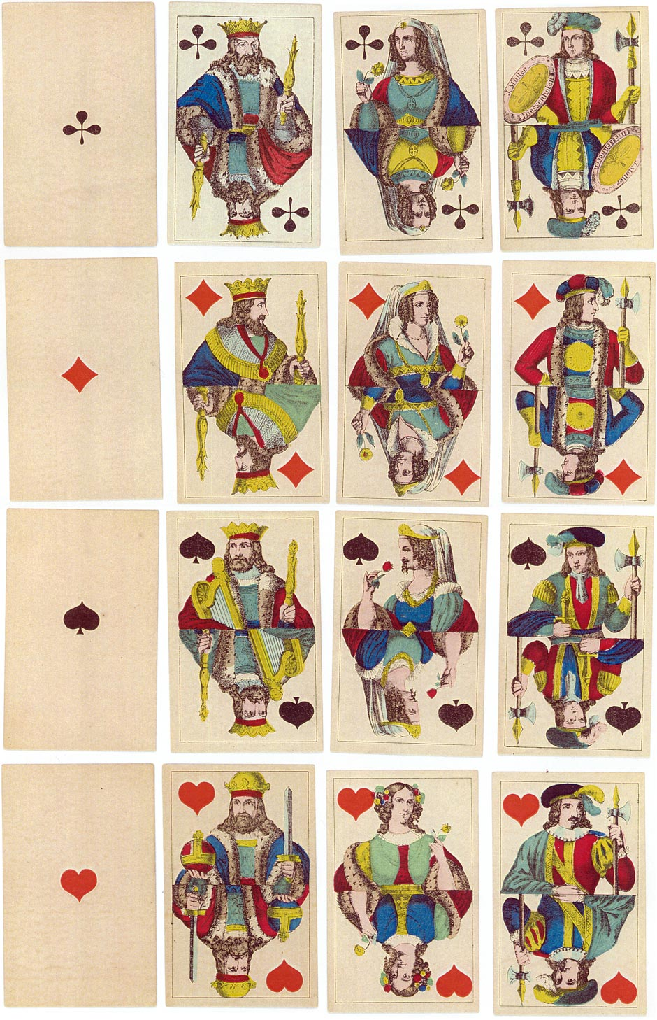 Playing Cards made by J. Müller, Diessenhofen, c.1840-50